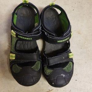 Boys Merrell sandals size 3